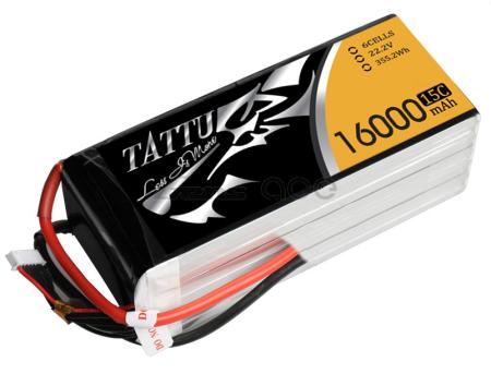 Tattu 16000mAh 22.2V 15/30C 6S1P Lipo Pack