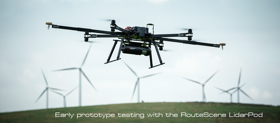 Lidar mapping multicopter