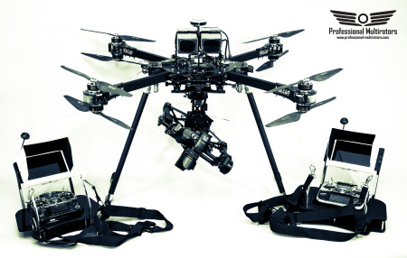 Harrier X8 foldable heavylift multicopter
