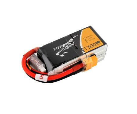 Tattu 1300mAh 14.8V 75C 4S1P Lipo Battery