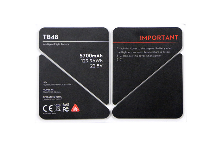 DJI TB48 LiPo Battery Insulation Sticker - Part 51